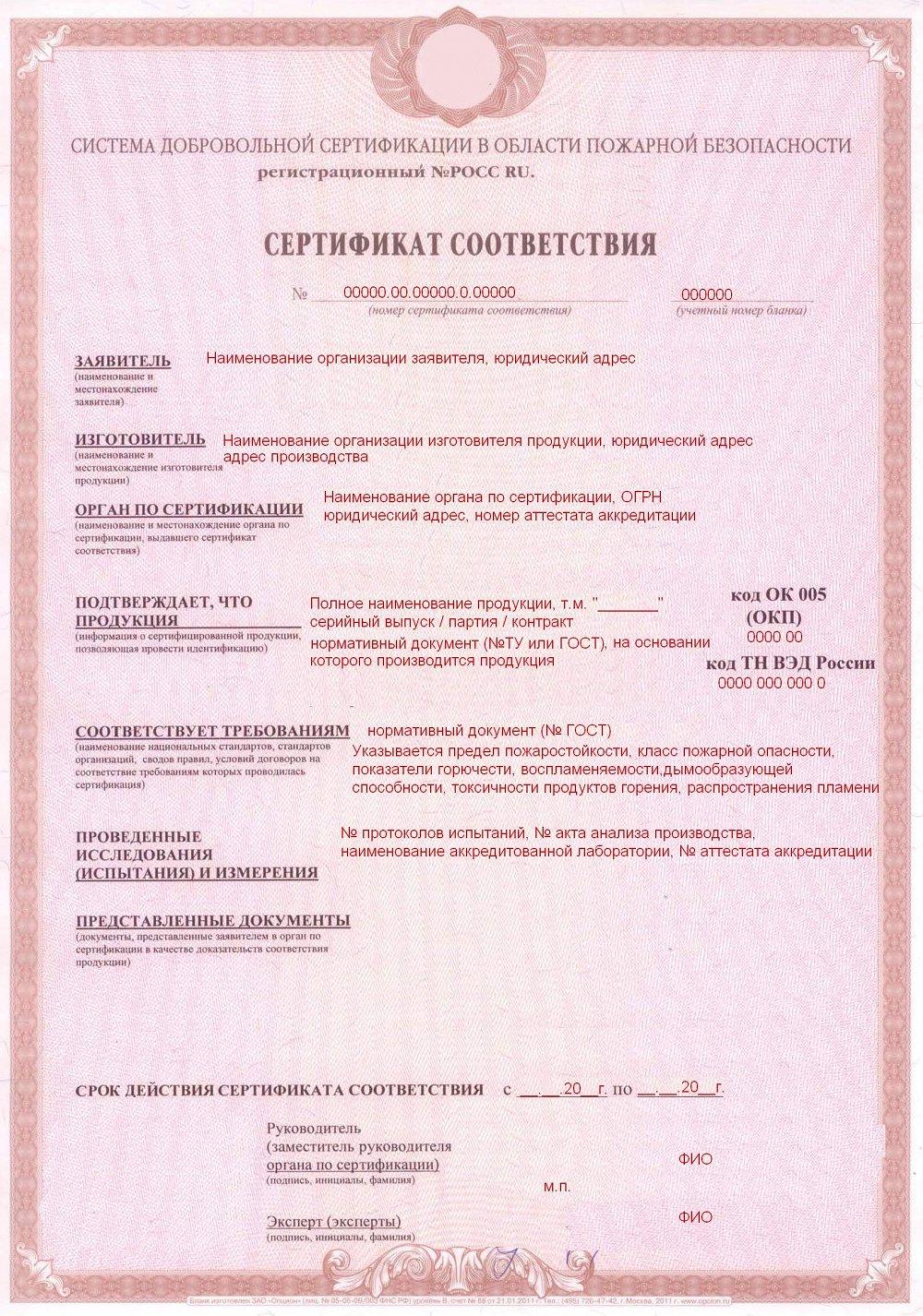 сертифицирование продукции инструкция